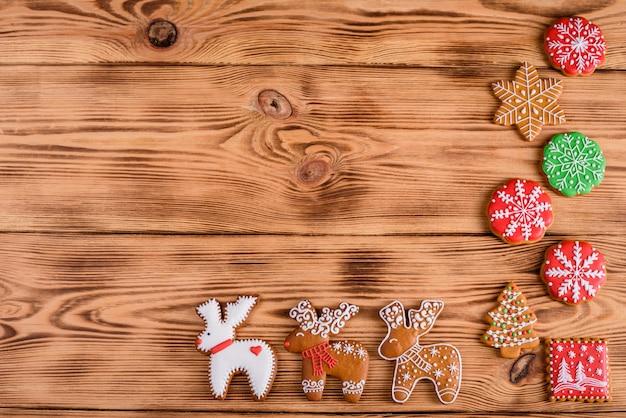 Zelfgemaakte ontbijtkoek kerstkoekjes