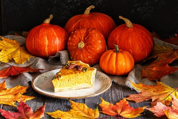 Zelfgemaakte pumpkin pie