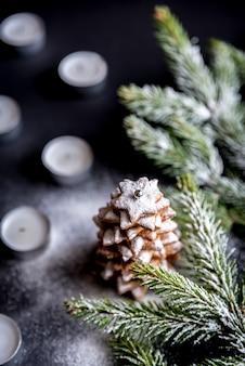 Zelfgemaakte zoete kerstboom