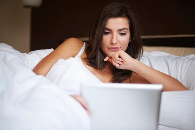 Zelfs in bed online blijven