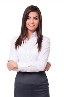 Zelfverzekerde zakenvrouw