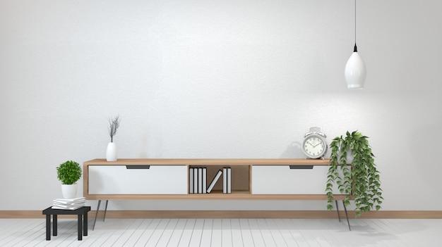 Zen moderne lege ruimte, minimale ontwerp japanse stijl. 3d-rendering
