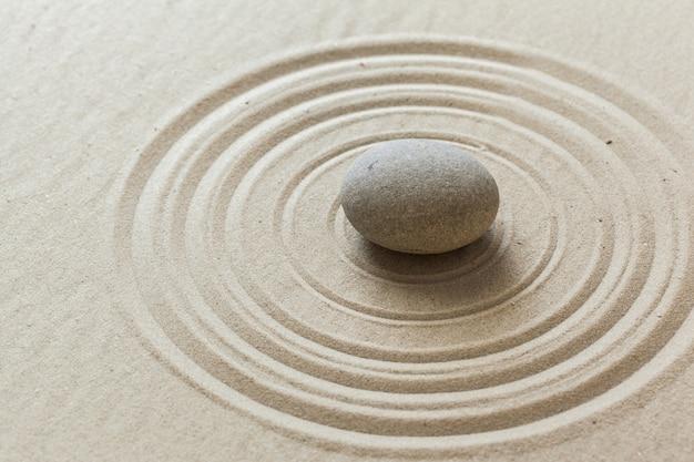Zen stenen tuin