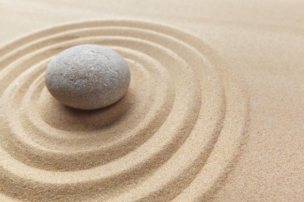 Zen tuin meditatie steen