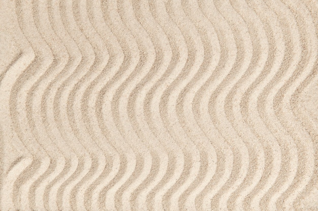 Zen zand golf getextureerde achtergrond in vrede concept