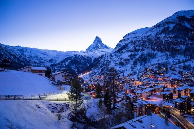 Zermatt, zwitserland, matterhorn, skigebied