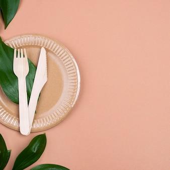 Zero waste bestek en kopieerruimte voor borden