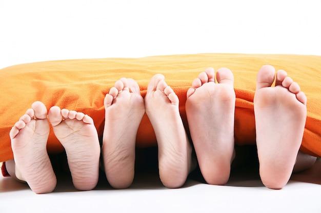 Zes voet onder de deken is wit