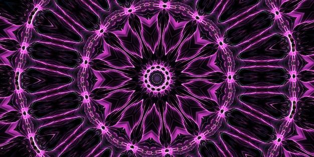 Zesde zintuig. psychische medium caleidoscoop. abstracte achtergrond met caleidoscopische vormen, trance en meditatie concept. heldere acrylverf die een rond mandalapatroon vormt met een verscheidenheid aan vormen