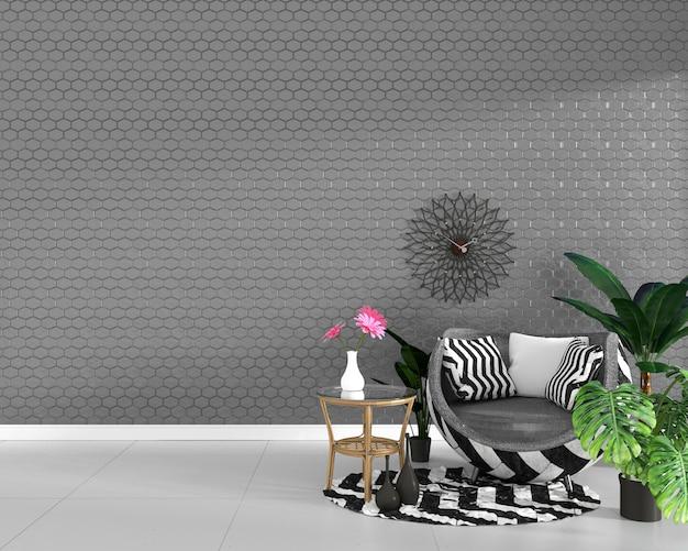 Zeshoek grijze tegel textuur muur achtergrond