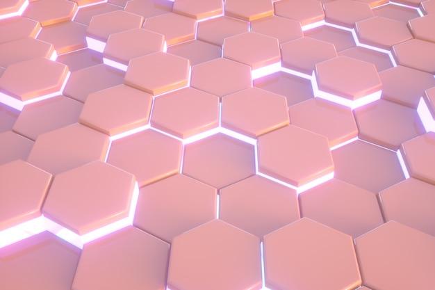 Zeshoek roze patroon abstracte moderne achtergrond.
