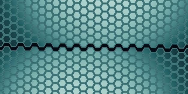 Zeshoekige abstracte honingraat muur eenvoudige sterke technologie achtergrond 3d illustratie