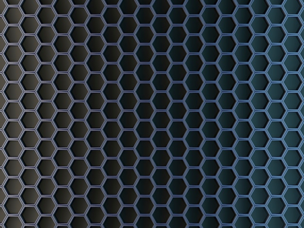 Zeshoekige cellen op een grijze achtergrond