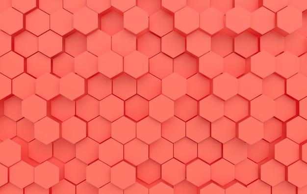 Zeshoekige samenvatting. modern cellulair honingraat 3d paneel met zeshoeken