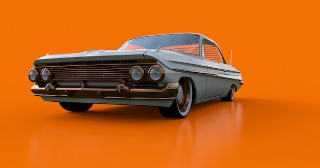 Zet oude amerikaanse auto in uitstekende staat