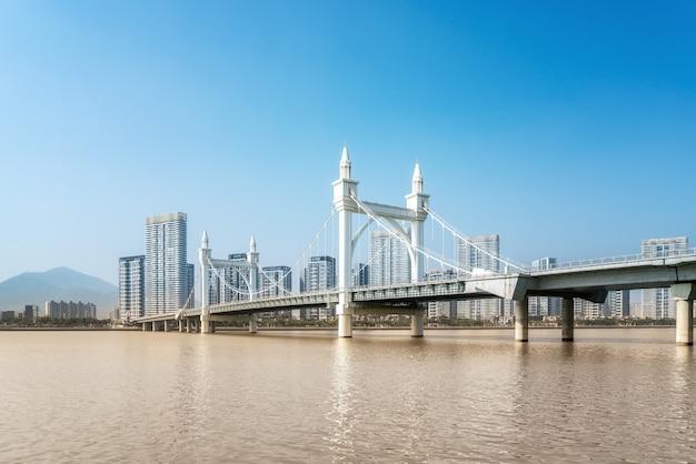 Zhuhai city scenery en coastline baishi bridge landscape