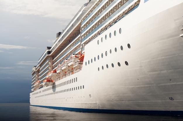 Zicht op het cruiseschip