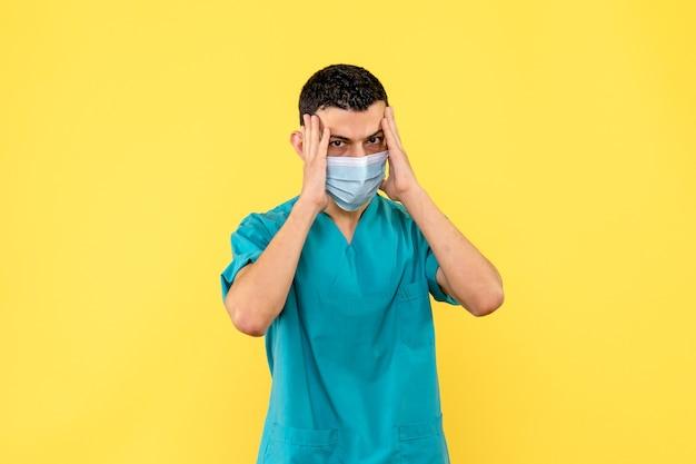 Zijaanzicht een arts een arts doet aanbevelingen aan patiënten