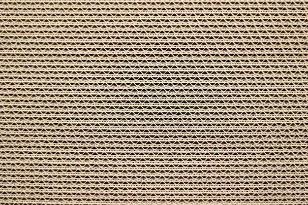 Zijaanzicht van een stapel karton