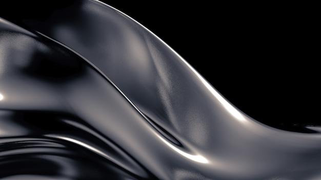 Zijde of stof met metalen reflexen achtergrond 3d-afbeelding rendering