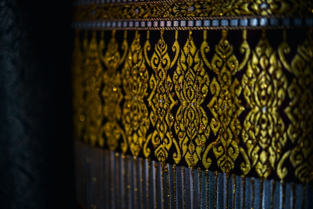 Zijde stof thaise en aziatische traditionele stijl