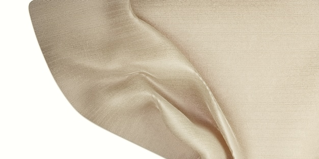 Zijde textuur golf gordijn organza stof licht beige 3d illustratie