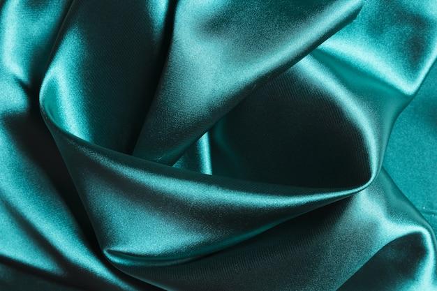 Zijden stof oceaanblauw materiaal voor huisdecoratie