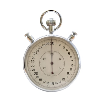 Zilver metallic stopwatch geïsoleerd