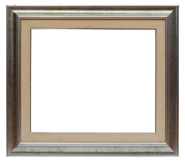 Zilveren afbeeldingsframe geïsoleerd op een witte achtergrond