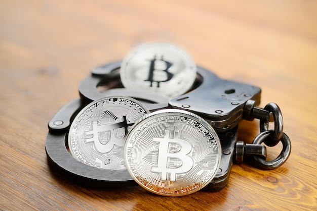 Zilveren bitcoin-arrestatie