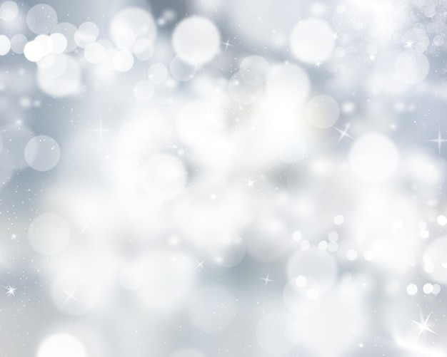 Zilveren bokeh-lichtenachtergrond