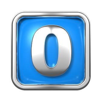 Zilveren cijfers in frame, op blauwe achtergrond