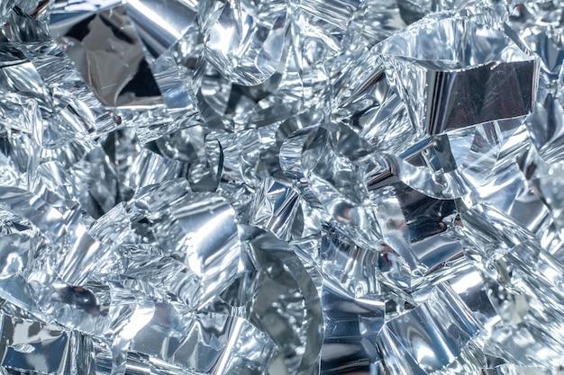 Zilveren glanzende metaalfolieachtergrond voor vakantie verpakking