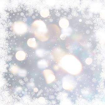 Zilveren kerstmis achtergrond