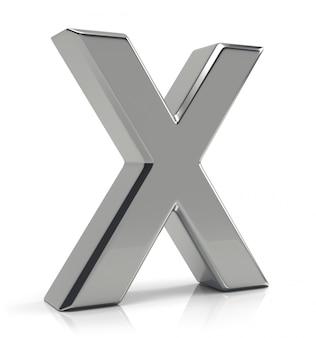 Zilveren letter x