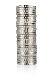 Zilveren muntenstapel