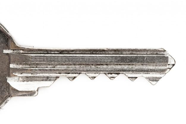 Zilveren sleutelclose-up