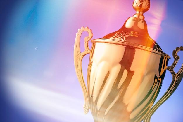 Zilveren trofee prijs