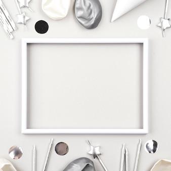 Zilveren verjaardagsornamenten met lijst