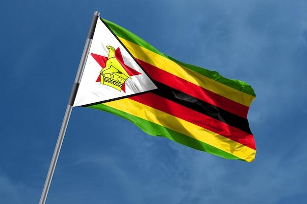 Zimbabwe vlag zwaaien
