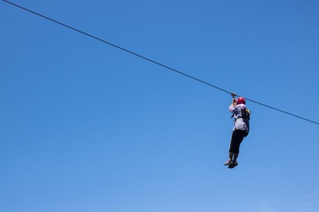 Zipline extreme sportritten