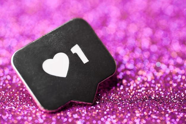 Zoals hartsymbool op hanger