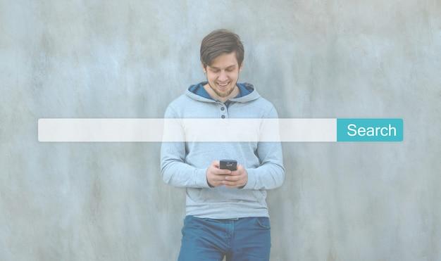 Zoek seo online internet browsen web concept. website www zoekbalk vergrootglas afbeelding