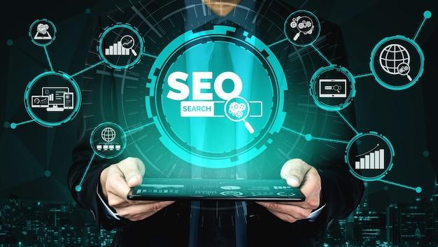 Zoekmachineoptimalisatie voor online marketingconcept.