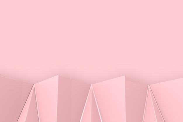 Zoet roze veelhoek vorm patroon op kopie ruimte muur achtergrond.