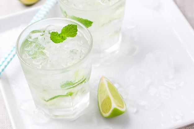 Zoet water met munt en citroen
