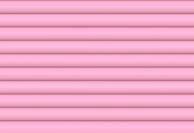 Zoet zachtroze horizontale cilinder curve patroon sluitertijd wand