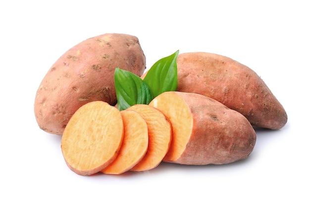 Zoete aardappel in close-up