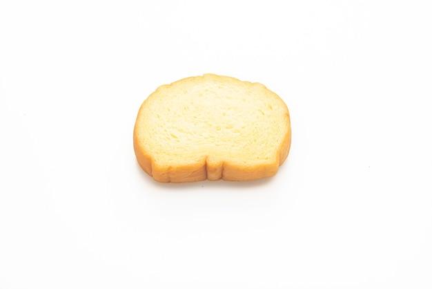 Zoete aardappelen brood gesneden geïsoleerd op witte achtergrond