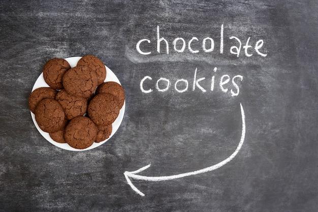 Zoete chocoladekoekjes in plaat